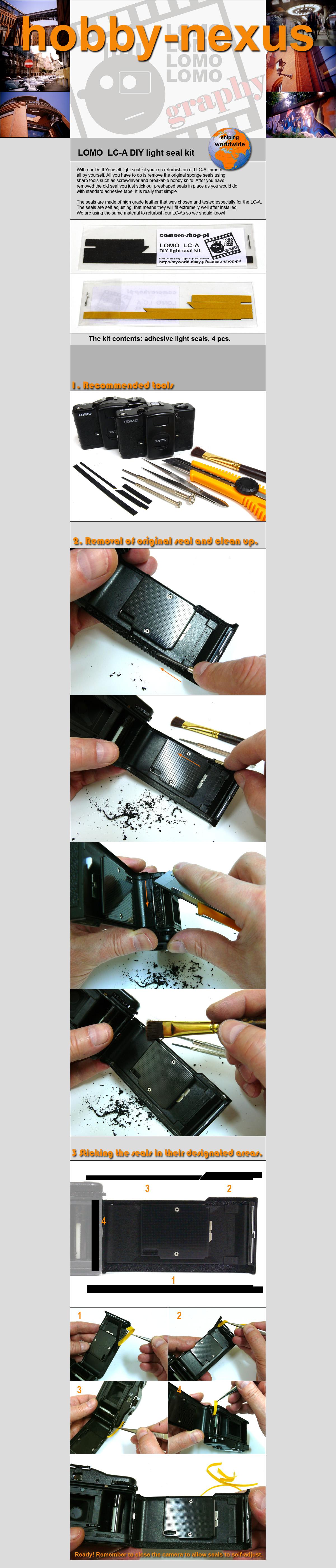 LOMO  LC-A DIY light seal kit Lomography